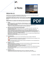 Release Note - FREJA Win 6.2