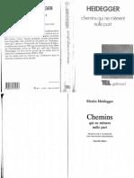 Heidegger - Chemins Qui Ne Menent Nulle Part