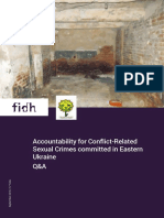 Accountability for Conflict-Related Sexual Crimes committed in Eastern Ukraine. Q&A