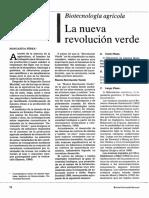 Biotecnologia La Nueva Revolucion Verde 1989
