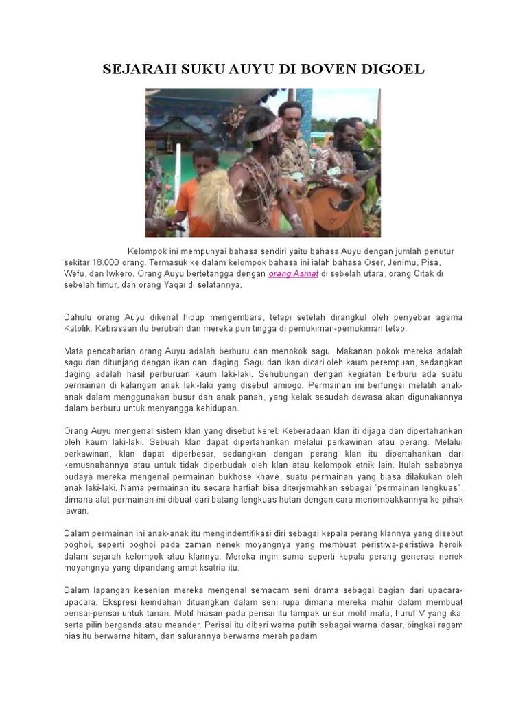 Sejarah Suku Auyu Di Boven Digoel Docx