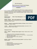 Aikaterini Chronopoulou CV 2018