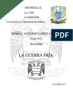 Un2.Tem2.Act1.Marco Lopez La Guerra Fria Historia Mundial Yyyyy