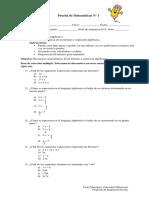 7B Prueba de Matematicas