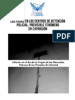 Informe de Una Ventana a la Libertad sobre fugas de detenidos - Septiembre 2018