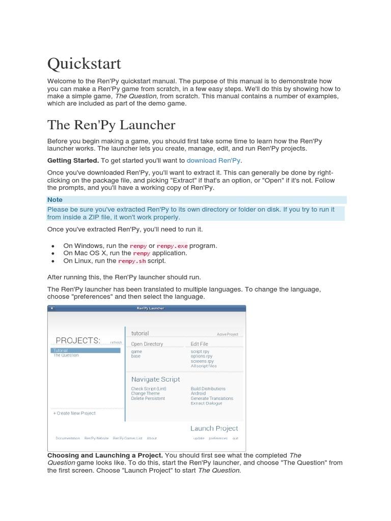 renpy | Menu (Computing) | Button (Computing)