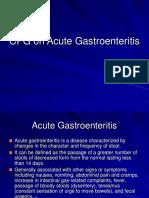 CPG on Acute Gastroenteritis