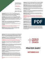 Prayer Diary September 2018
