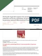 Https Analisis05 Wordpress Com 2017-12-23 El Fraude Legal Del Registro de Nacimiento y Su Relacion Con La Ley Maritima La Persona Juridica y La Persona Natural