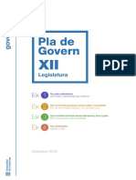 Pla de Govern de l'XII Legislatura