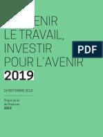 DP Projet de loi de Finances 2019