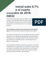 PIB Nominal Sube 8