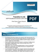 Transition to 4G-HSPA LTE Advanced Rysavy 2010 PPT