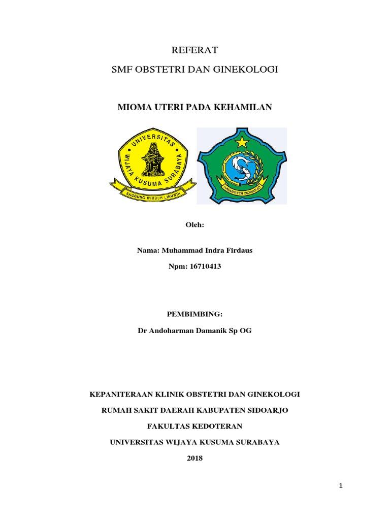 Referat Smf Obstetri Dan Ginekologi Mioma Uteri Pada Kehamilan