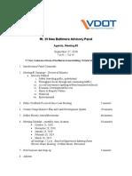 9-27-18 VDOT Rt 29 Agenda