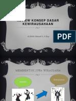 Kewirausahaan (Review Konsep Dasar Kewirausahaan)