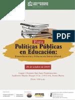 Agenda Foro Políticas Públicas en Educación