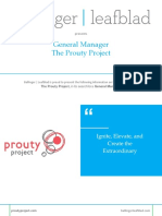 Prouty Project - General Manager - Position Profile