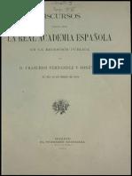 Discurso de Ingreso Francisco Fernandez y Gonzalez