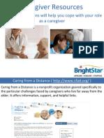 Caregiver National Resources