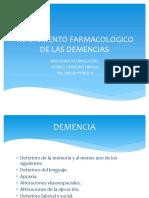 Tratamiento Farmacologico de Las Demencias