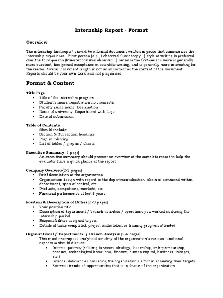 Internship Final Report Format 2016 docx | Cognition | Psychology