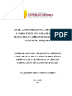 Ciancia y Tecnologia, Evaluacion Formativa