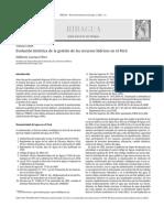 Evolución Histórica de La Gestión de Los Recursos Hídricos en El Perú