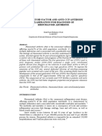 RHEUMATOID FACTOR AND ANTI-CCP ANTIBODY EXAMINATION FOR DIAGNOSIS OF  RHEUMATOID ARTHRITIS