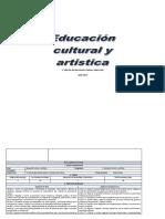 Plan Cirricular Anual Educacion Cultural Artistica 2018 B Ll