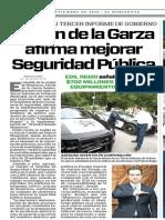 25-09-18 Adrián de la Garza afirma mejorar Seguridad Pública