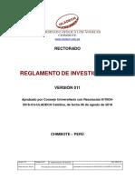 Reglamento de Investigación V011