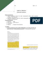 contoh Critical Appraisal