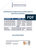 Convocatoria Selecciones y Banda Músical 2018-2019 UE Gonzaga