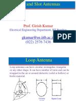 Week-3-Loop and Slot Antennas