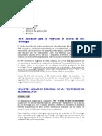 Requisitos Certificacion TAPA-FSR