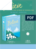Believe A Pop-Up Book of Possibilities by Robert Sabuda Author Q&A
