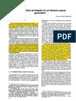 José Luis Díex Ripollés. El Bien Jurídico Protegido en Un Derecho Penal Garantista_unlocked