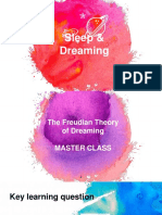 master class   workshop - sleep   dreaming - the freudian theory of dreaming