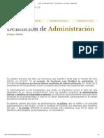 ¿Qué Es Administración_ - Su Definición, Concepto y Significado