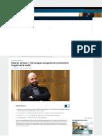 Roberto Saviano _ _les Banques Européennes Recherchent l'Argent de La Mafia_ _ Euronews