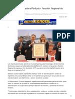 19-10-2017-Inaugura Gobernadora Pavlovich Reunión Regional de Ingeniería Civil - Canal Sonora