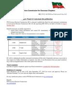 PTI election commission for overseas - Panel & Contestants list publication