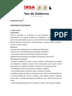 Plan de Gobierno Ersa