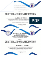 Certificate LAC