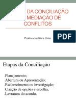 Slides 4 - Etapas Da Conciliacao e Da Mediacao