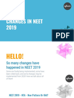 NEET 2019 Changes and New Rules