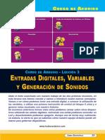 Lección 03 Entradas Digitales, Variables y Generación de Sonidos