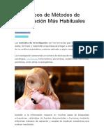 Los 9 Tipos de Métodos de Investigación Más Habituales