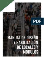 MANUAL DE DISEÑO Y HABILITACIÓN DE LOCALES Y MÓDULOS
